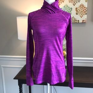 Reebok Women's Pullover with layered folded neck!